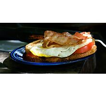 Bacon and Egg Sandwich Photographic Print