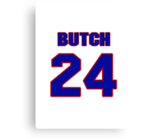 National football player Butch Byrd jersey 24 Canvas Print
