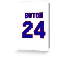 National football player Butch Byrd jersey 24 Greeting Card