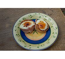 Bacon wrapped eggs Photographic Print