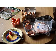 Making Breakfast Photographic Print