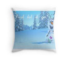 Just let it go - Frozen Throw Pillow
