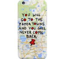 Paper Towns: Quote3 iPhone Case/Skin