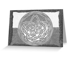 Celtic Spirals - Winter colors Greeting Card