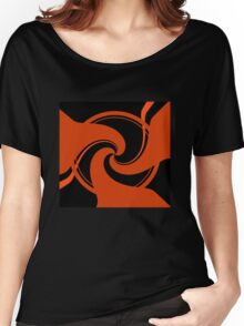 Orange and Black abstract Women's Relaxed Fit T-Shirt