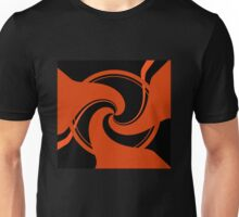 Orange and Black abstract T-Shirt