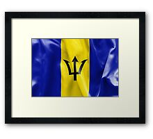 Barbados Flag Framed Print