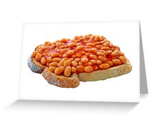 Beans on Toast Greeting Card