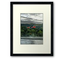 Sea King helicopter rescue drill, Stirling  Framed Print