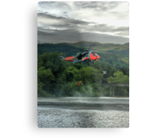 Sea King helicopter rescue drill, Stirling  Metal Print