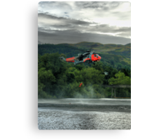 Sea King helicopter rescue drill, Stirling  Canvas Print