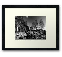 Strensall common in the black and white Framed Print