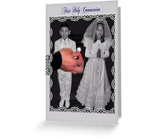 First Holy Communion card for boy or girl Greeting Card