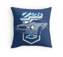 1979 Camaro Z28 two color illustration Throw Pillow