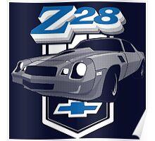 1979 Camaro Z28 two color illustration Poster