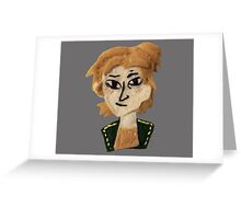 Dragon Age Anders felt embroidery mage apostate Greeting Card