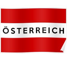 flag of austria Poster
