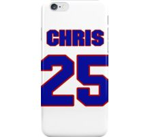 National football player Chris Martin jersey 25 iPhone Case/Skin