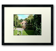 The Village Pond and weeping willows Framed Print