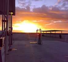 Sunrise, Nullarbor Roadhouse by trekka