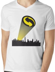 Recycle alert Mens V-Neck T-Shirt