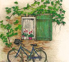 French Countryside, The Bicycle by bajidoo