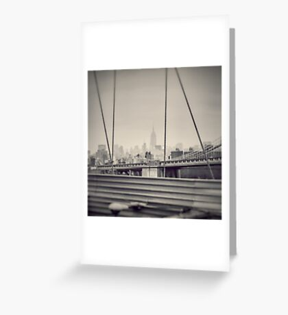 Staring at the Empire State Building Greeting Card