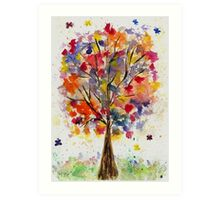 tree - a fantasy.  Art Print