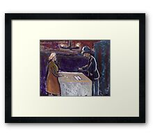The rent collector Framed Print
