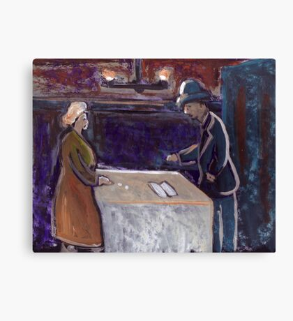 The rent collector Canvas Print
