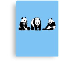 Funny panda party Canvas Print