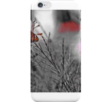 Tiny pricess, BW Butterfly. iPhone Case/Skin