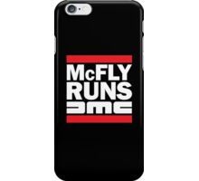McFly Runs DMC iPhone Case/Skin