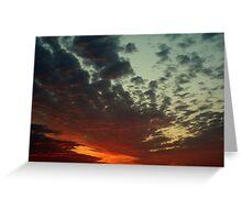 Dawn Fighting thru Thunder Clouds Greeting Card