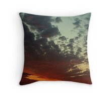 Dawn Fighting thru Thunder Clouds Throw Pillow