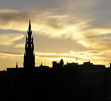 Edinburgh at Sunset by MoonlightJo