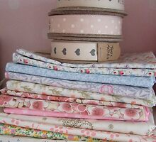 Fabrics and ribbons by secretbutterfly