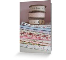 Fabrics and ribbons Greeting Card