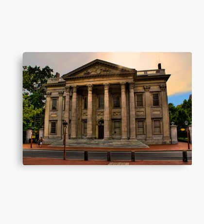 Historic Philadelphia - First Bank of the United States Canvas Print