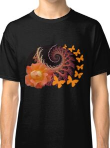 Roses, butterflies and a spiral Classic T-Shirt