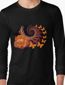 Roses, butterflies and a spiral Long Sleeve T-Shirt