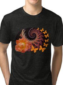 Roses, butterflies and a spiral Tri-blend T-Shirt