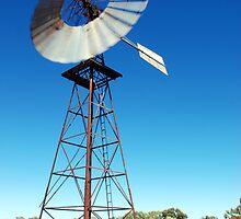 Windmill in Outback Australia by Matthew Reid