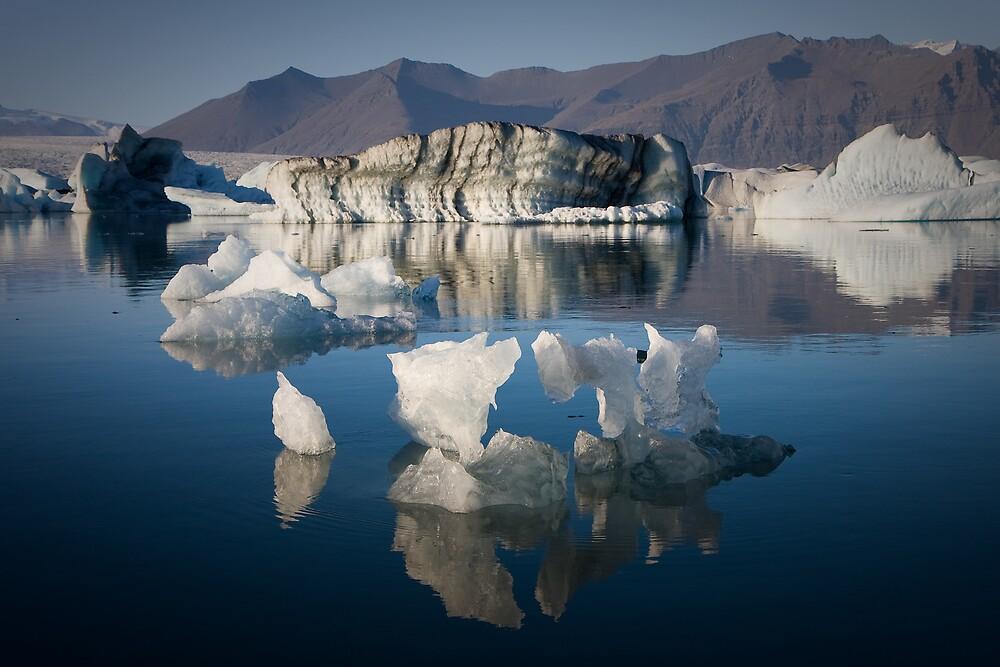 Floating Ice Sculptures (Jökulsárlón - Iceland) by Phil Bain