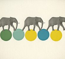 Travelling Elephants by Cassia
