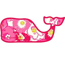 Lilly Pulitzer Whale Cherry Begonias Photographic Print