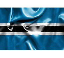 Botswana Flag Photographic Print