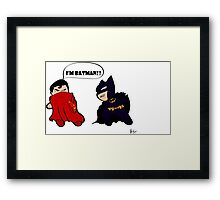 Batman Vs Superman  Framed Print