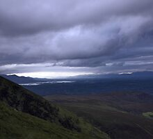 dingle and the lakes of killarney from the Derrynasaggart mountains by rossbeighed