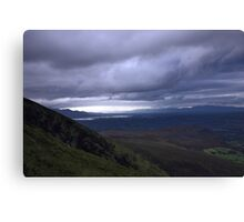 dingle and the lakes of killarney from the Derrynasaggart mountains Canvas Print